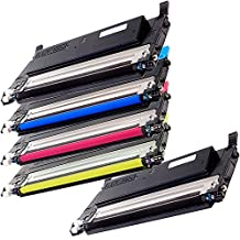 5 Inkfirst® High Yield Toner Cartridges CLT-K409S, CLT-C409S, CLT-M409S, CLT-Y409S Compatible Remanufactured for Samsung CLP-315 Black, Cyan, Magenta, Yellow (1 Set + 1 Black) CLX-3170 CLX-3175FN CLX-3175FW CLP-310 CLP-315 CLP-315W
