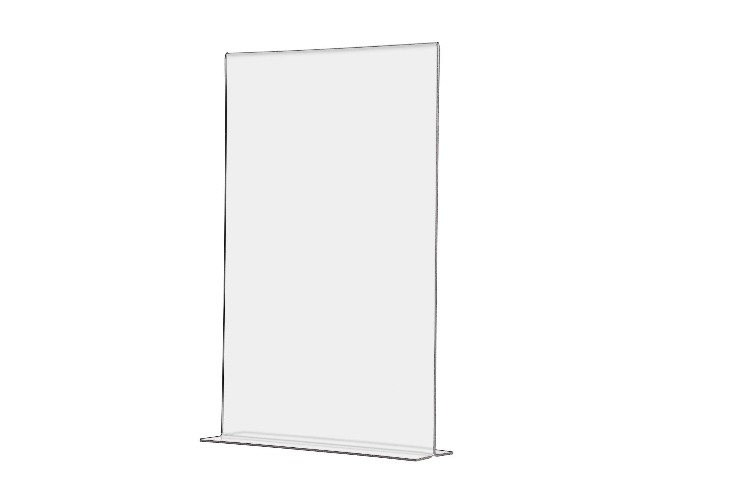 Marketing Holders Acrylic Bottom Loading Flyer Frame Menu Signage Countertop 11x17 Lot of 1
