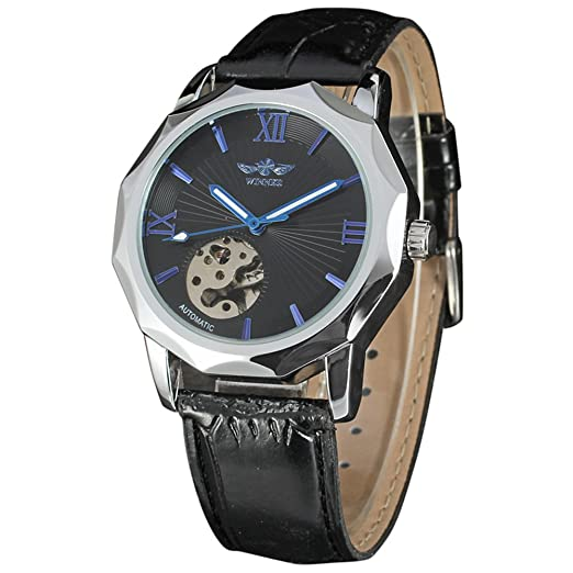 Winner Casual vestido de moda reloj de pulsera, relojes, analógico, Business automático movimiento reloj: Amazon.es: Relojes