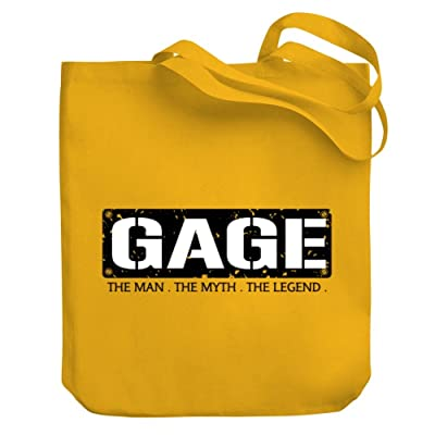Teeburon Gage THE MAN THE MYTH THE LEGEND Canvas Tote Bag delicate