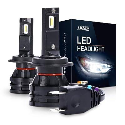 H7 LED Headlight Bulbs Conversion Kit U2 Series Mini Design 6500K Xenon White CREE - 6000 Lumens/Set: Automotive