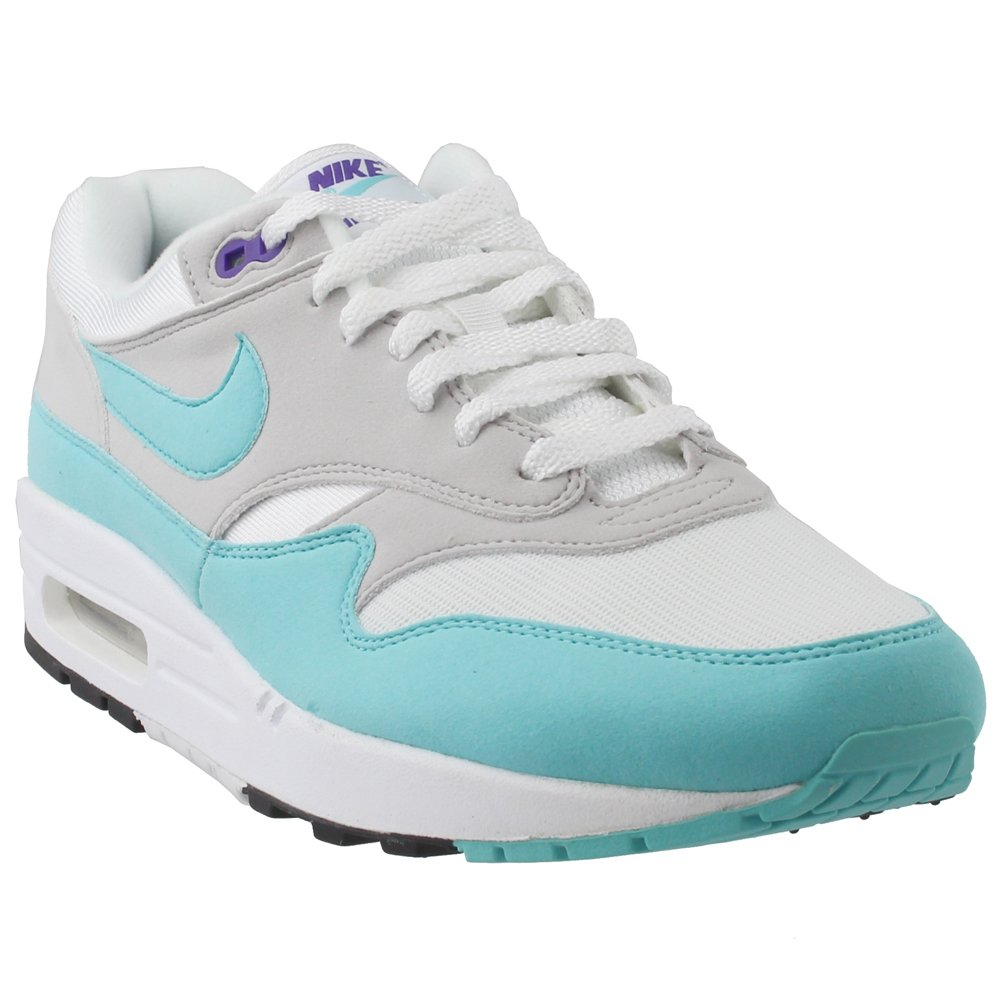 Nike Air Max 1 Anniversary Schuhe Sneaker Neu Menacute;s  11.5|White, Aqua-neutral Grey- Black