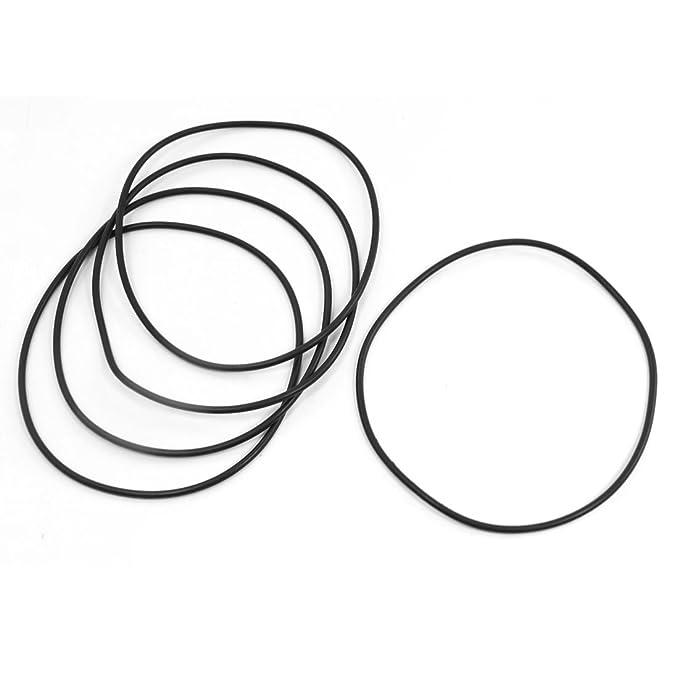 Kautschuk schwarz 140 mm St/ärke 3,5 mm 5 St/ücke Amico O-Ring//Dichtungsring