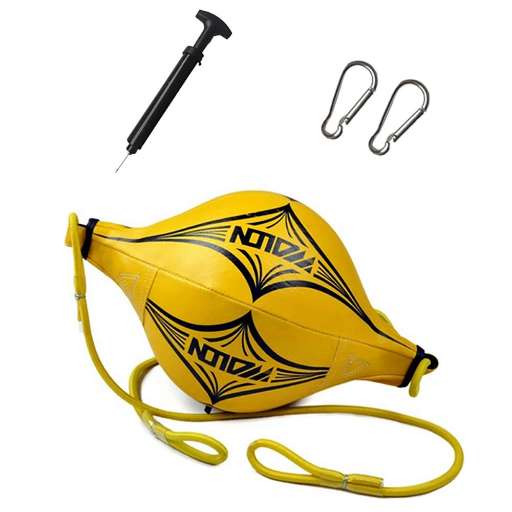 AZX Doppelend Speed Ball /Übung Training Boxing Ball MMA Dodge Punchingb/älle Speed Bag Leder Trainingszubeh/ör