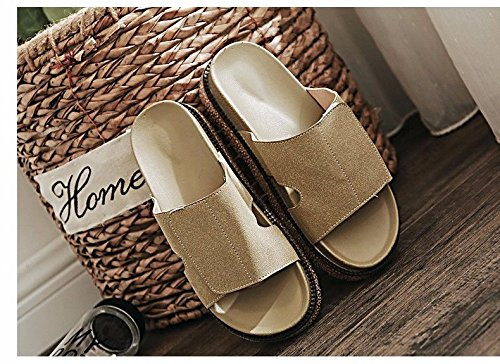British beach seaside fashion muffins slippers Slippers summer XZ fashion Brown cool women's and summer LIUXINDA shoes OUxw5PBqU