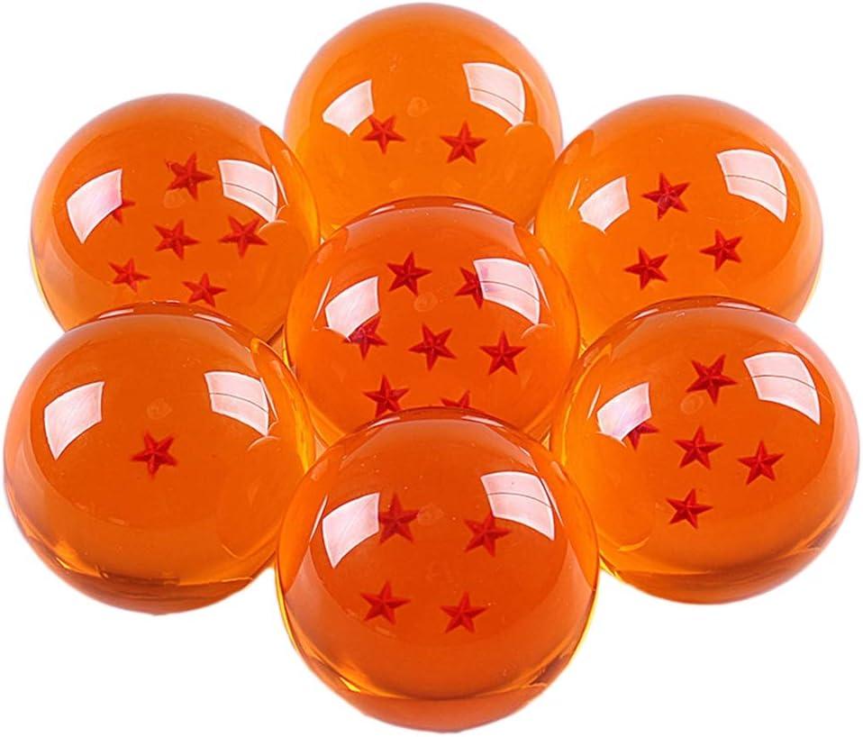 Bolas de Drag/ón 1 a 7 Estrellas Bolas Drag/ón Ball Cristal Regalo de A/ño Nuevo para Coleccionar o Regalar para Ni/ños Pareja Cosplay XYSHZXC 7 Piezas Bolas Dragon Ball