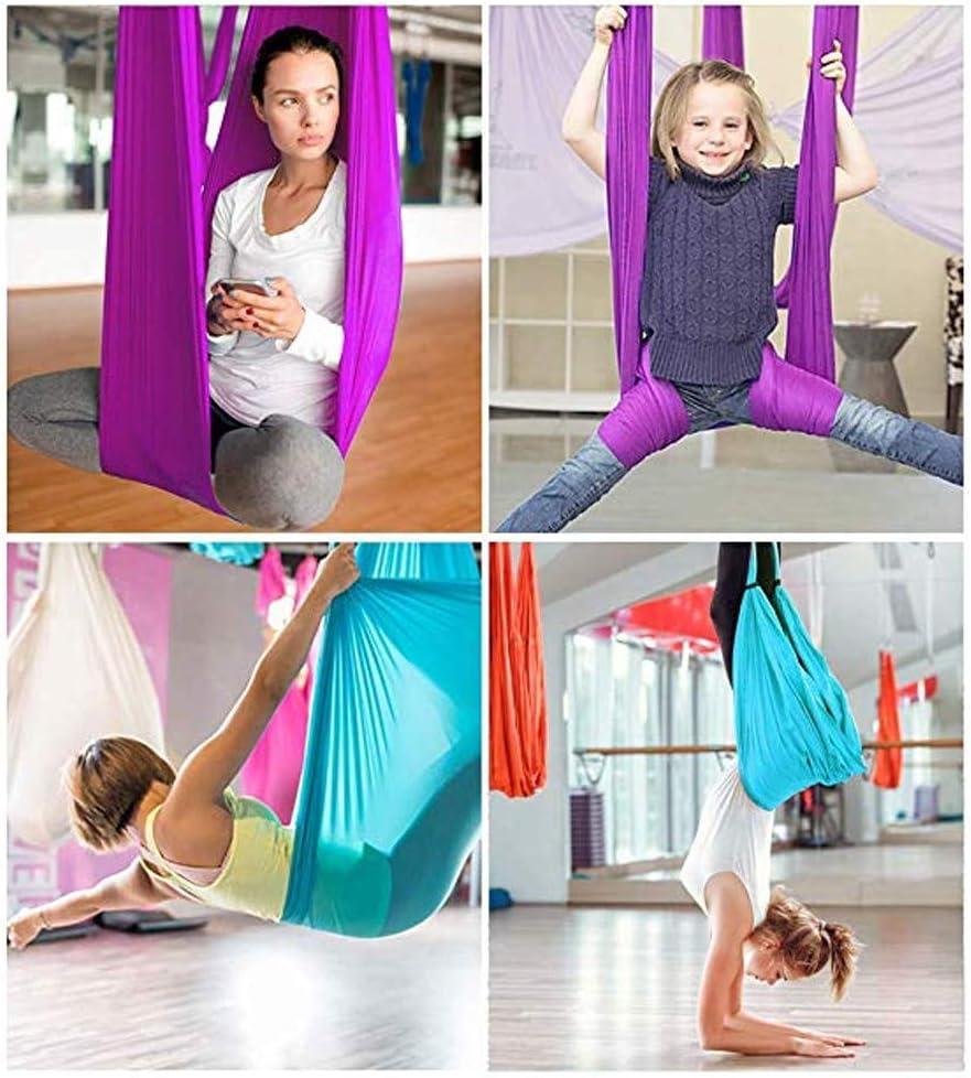 Exercices dinversion flexibilit/é am/élior/ée et Force de Base Balan/çoire de Yoga en pour Le Yoga Anti-gravit/é JIALFA Hamac de Yoga A/érien Kits Accessoires de Montage Inclus