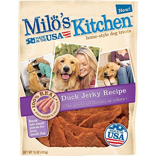 Milo's Kitchen Duck Jerky Recipe Dog Treat, 15-Ounce (2 Pack)