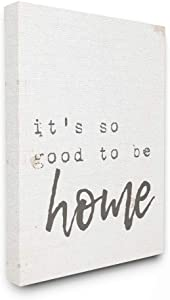 Stupell Industries Its So Good to Be Home Typewriter Typography Canvas Wall Art, 24 x 30, Design by Artist Daphne Polselli