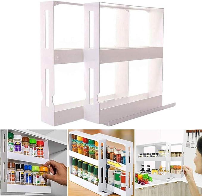 2 Tier Spice Rack, Multifunction Rotating Jars Spice Rack Kitchen Storage Holder Rack Organizer: Amazon.ca: Home & Kitchen