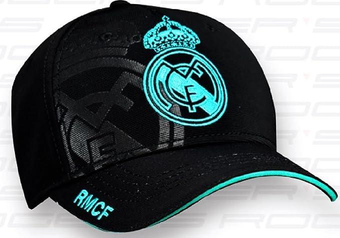 Gorra 2ª Equipación Real Madrid 2017-2018 - Producto Oficial Licenciado.  Color Negro - Niño talla ajustable.  Amazon.es  Ropa y accesorios 5789b3c947596
