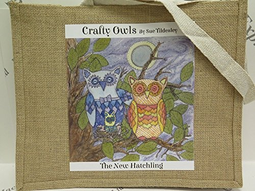 Designs New Large to New Hessian 3 Jute Hatchling or Medium choose Large from Hatchling Jackdaw Owls Crafty Bag in Medium Express Range 7gUppqxa