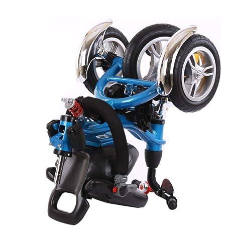 TH Triciclo Baby,Triciclo para Niños,Triciclo,4 En 1 Plegable con Barra