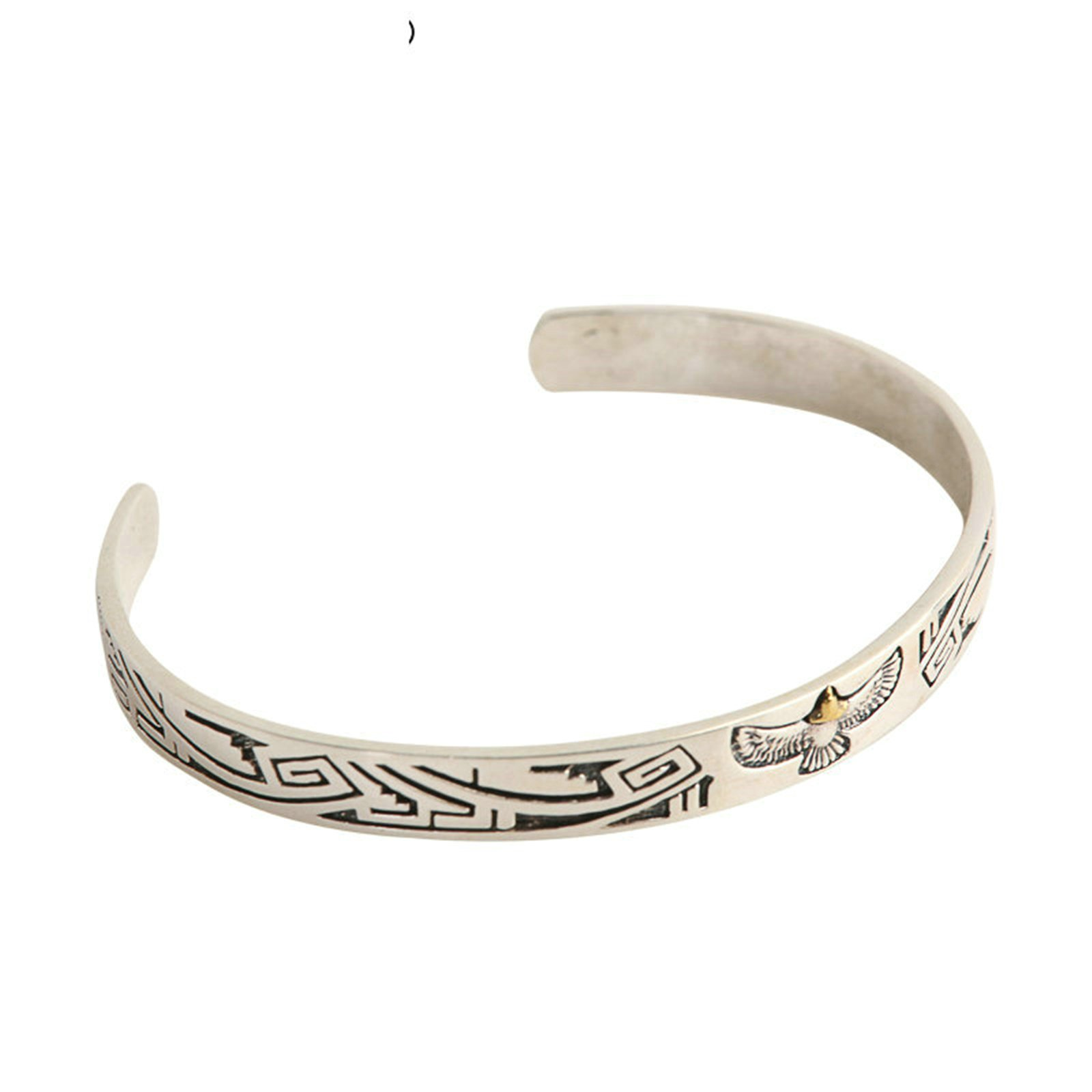 Daesar 925 Silver Bracelet For Men And Women Indian Eagle Totem Opening Bracelet Silver