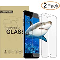 2-Pack Meerveil iPhone 8 Plus /7 Plus Tempered Glass Screen Protector
