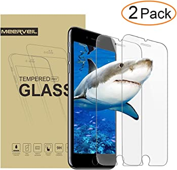 2-Pack Meerveil iPhone 8/7 Plus Tempered Glass Screen Protector