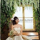 Hot New 24x Artificial Silk Wisteria Fake Hanging Flower Vine Wedding Garden Decor White