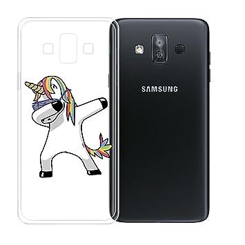 JIENI Funda para Samsung Galaxy J7 Duo Transparente TPU Suave ...