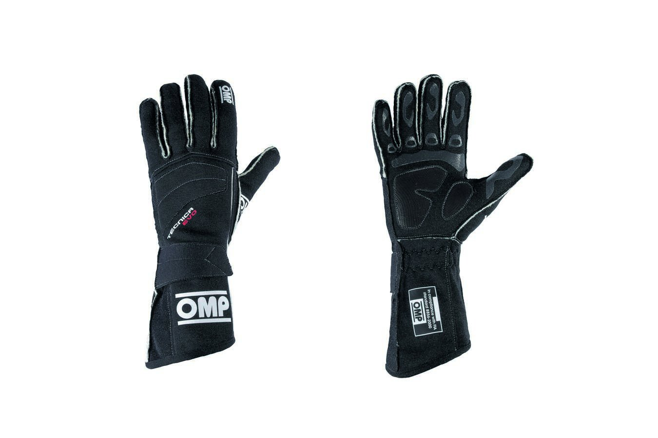 OMP (IB/756/N/XL) Tecnica Evo Gloves, Black, X-Large