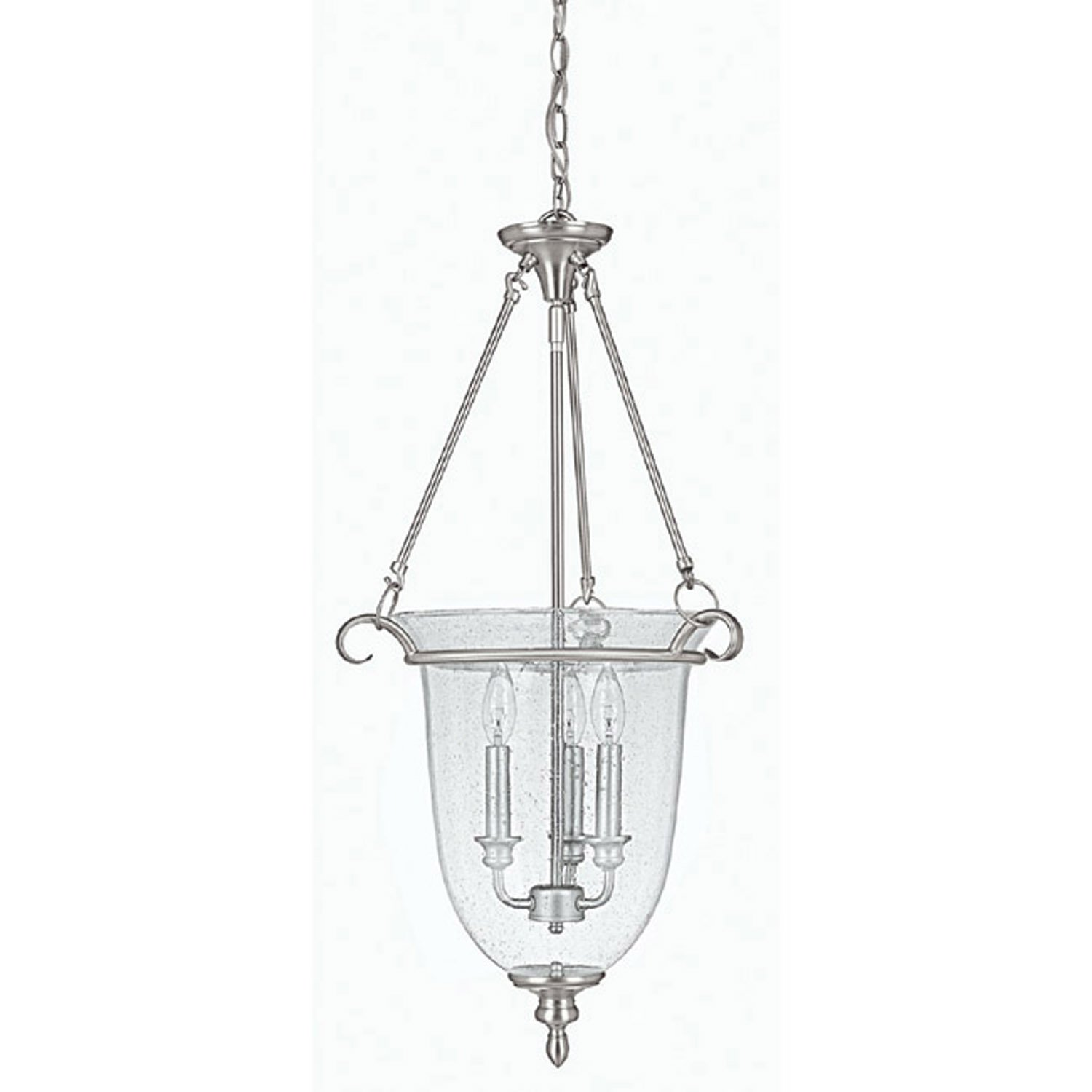 Capital Lighting 9310MN Foyer with Seeded Glass Shades Matte