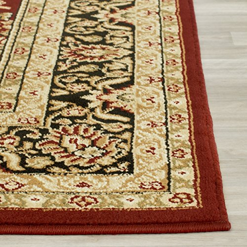 10 Square Oriental Rug (Safavieh Lyndhurst Collection LNH214A Traditional Oriental Red and Black Square Area Rug (10' Square))