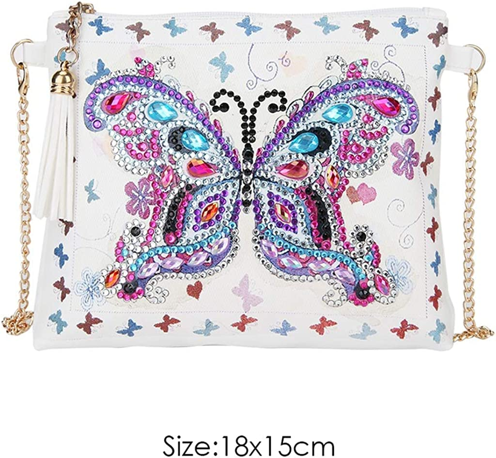 DIY 5D Diamond Painting Crossbody Bag LEKUKY Special Shaped Drill Cross Stitch Handbag Purse Tote Shoulder Bag Embroidery Kit Leather for Girl Women Adults Art Craft Decor