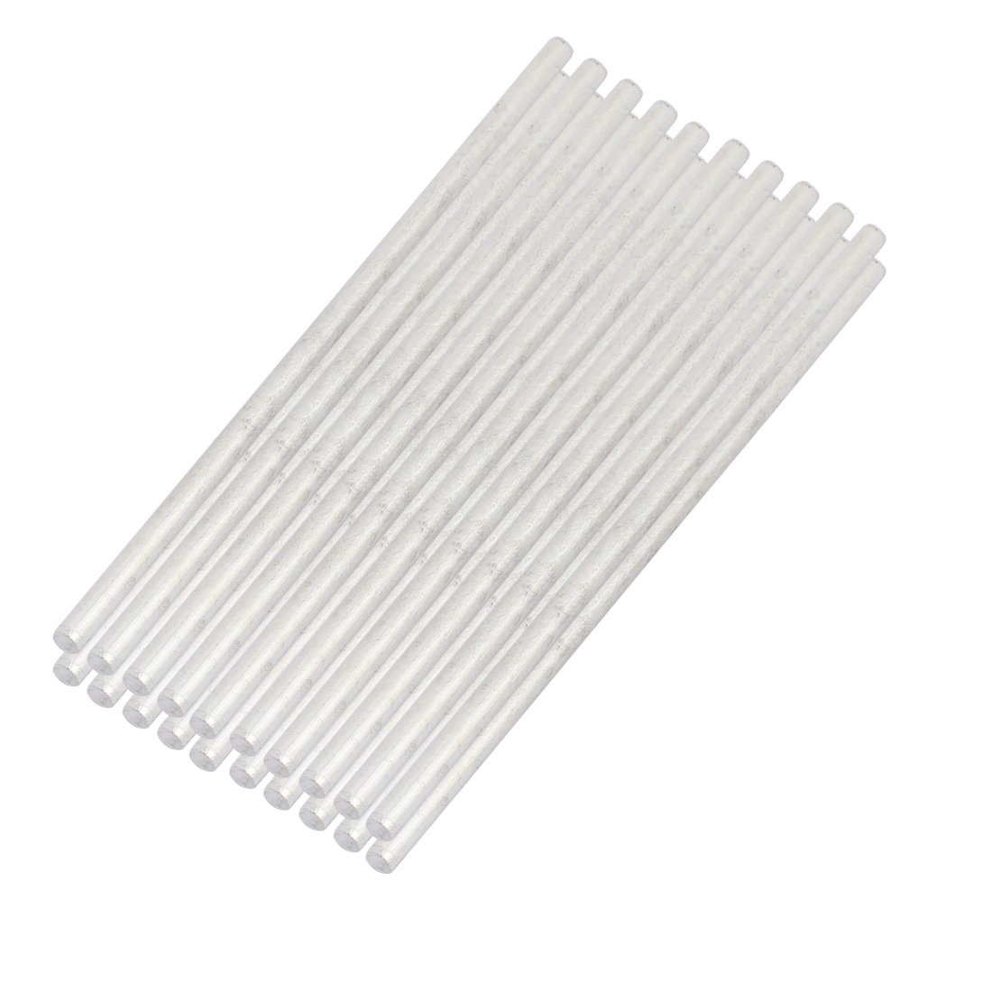 uxcell 30Pcs Round Shaft Solid Steel Rods Axles 3mm x 90mm Silver Tone