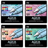 Spectrum Noir Aqua Water Based Marker Art Craft Marker Pens - All 4 x 12 Packs
