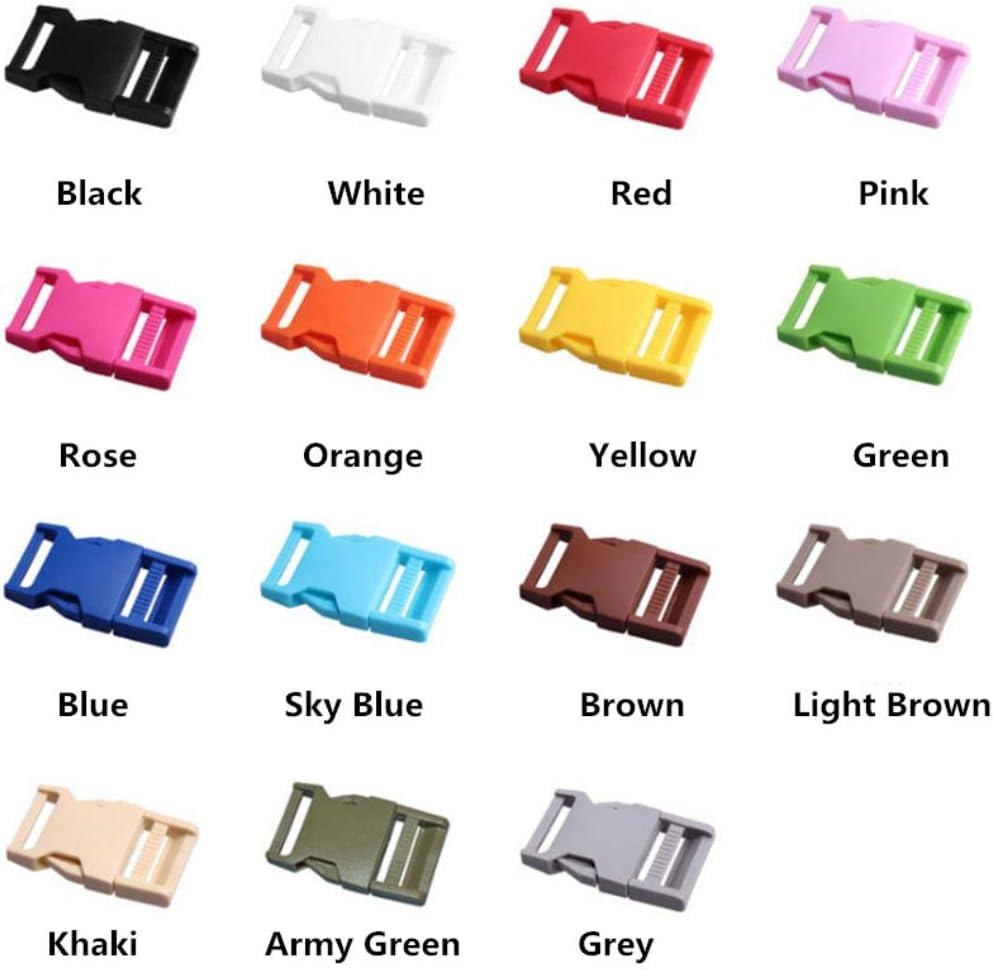 Orange 2 pcs 25mm Color/é Boucle ABS Fermoirs Pour Paracord Bracelet Sacs /À Dos V/êtements Sacs Pi/èces