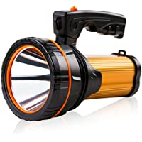 Super Bright Led Torch Searchlight USB Rechargeable Handheld Torch Spotlight Flashlight Large Battery 10000MAH High Lumens Outdoor Torch Waterproof Spot Search Light