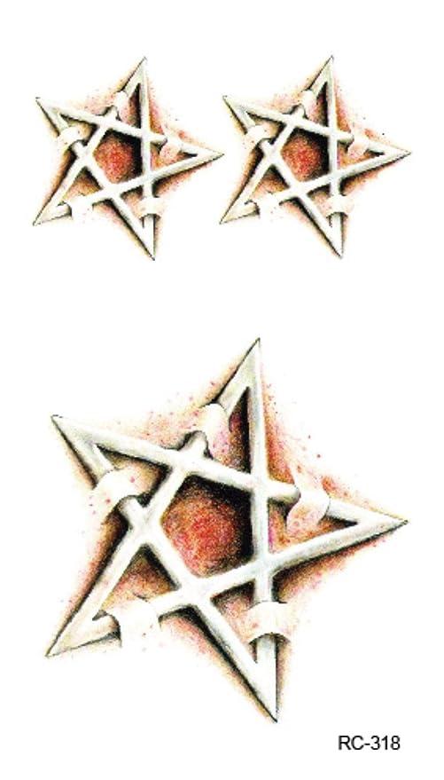 RC2318 3d Pentagrama de herida de Halloween Cicatriz Diseños de ...