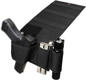 Hochoek Gun-Holster Universal-Gun-Holster Pistol-Holster Handgun-Holster - Fit All Gun for Mattress Vehicle Wardrobe Couch Chair Door Wall
