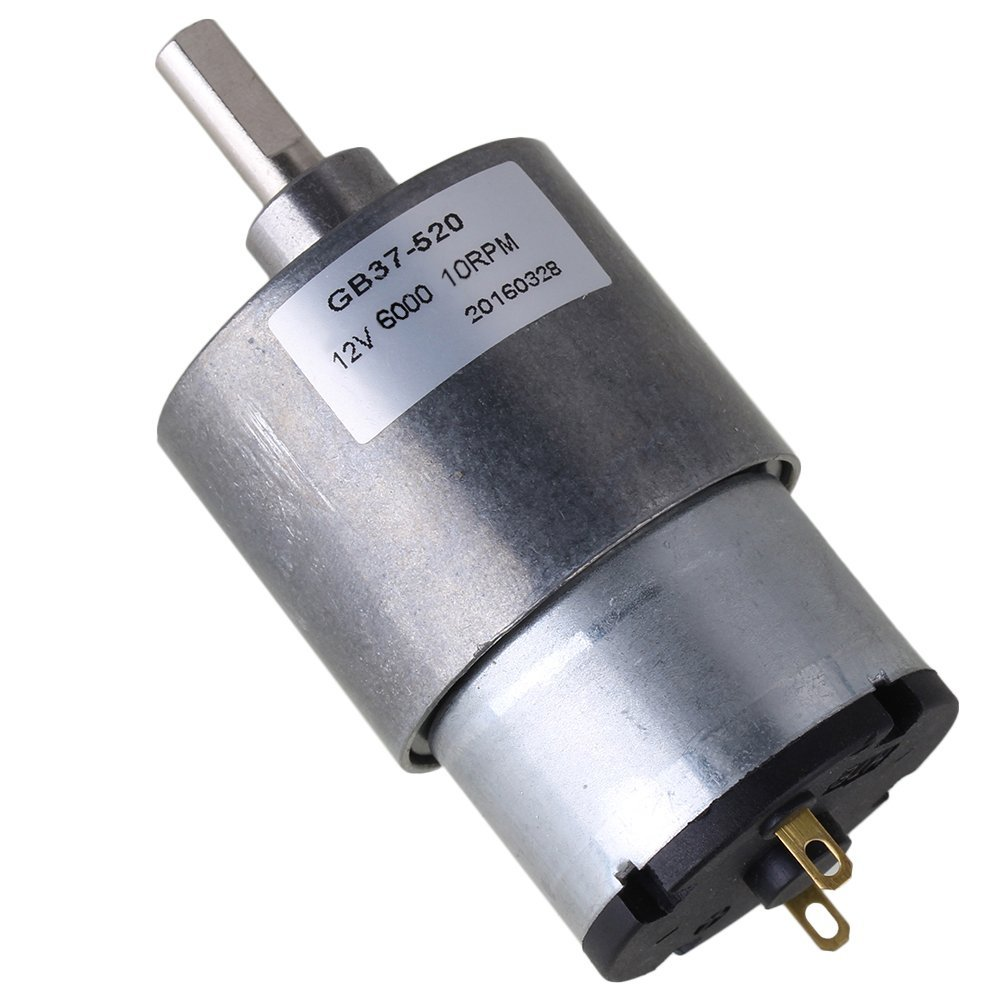 CNBTR 37mm 10RPM Reduce Speed 12v Miniature Electric DC Geared Motors with Metal Gear Box for Automatic Actuator yqltd