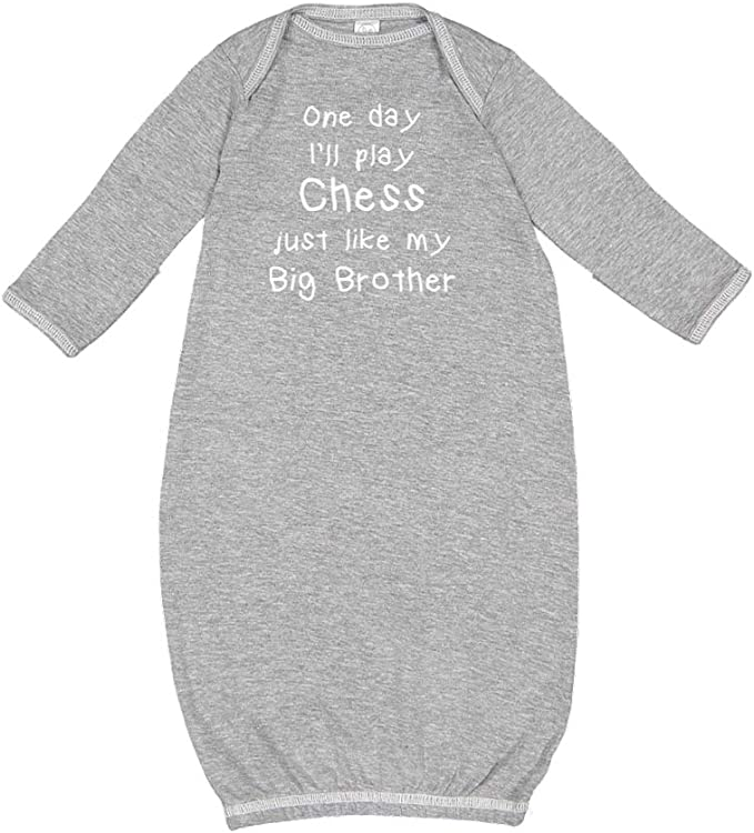 Baby Romper One Day Ill Play Chess Just Like My Big Brother