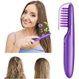Gwekdo Hair Detangler Brush,Wet or Dry Tame The Mane Electric Detangling Brush with Brush Cover,Electric Scalp Massager Comb Brush for Adults/Kids Hair Tool - (Batteries Not included)