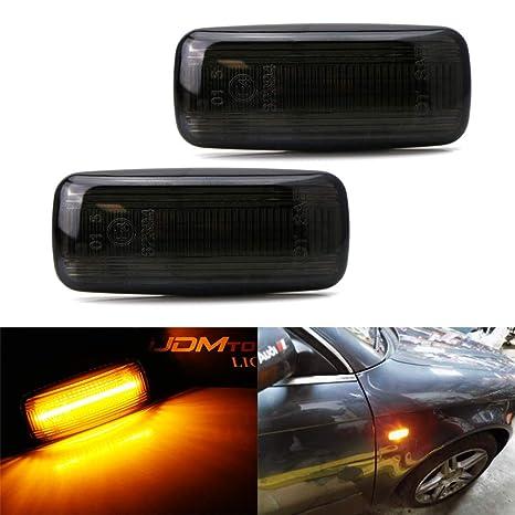 Dynamic Smoked LED Side Marker Lights Lens Front Fender For VW MK4 Jette Beetle~