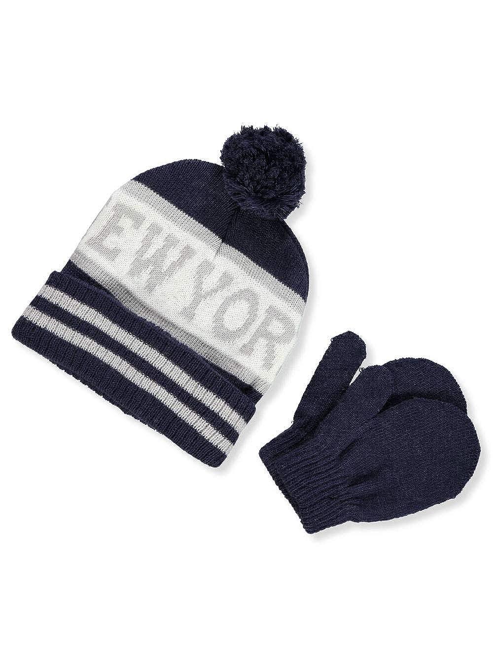 Winter Warm-Up Boys Beanie /& Mittens Set