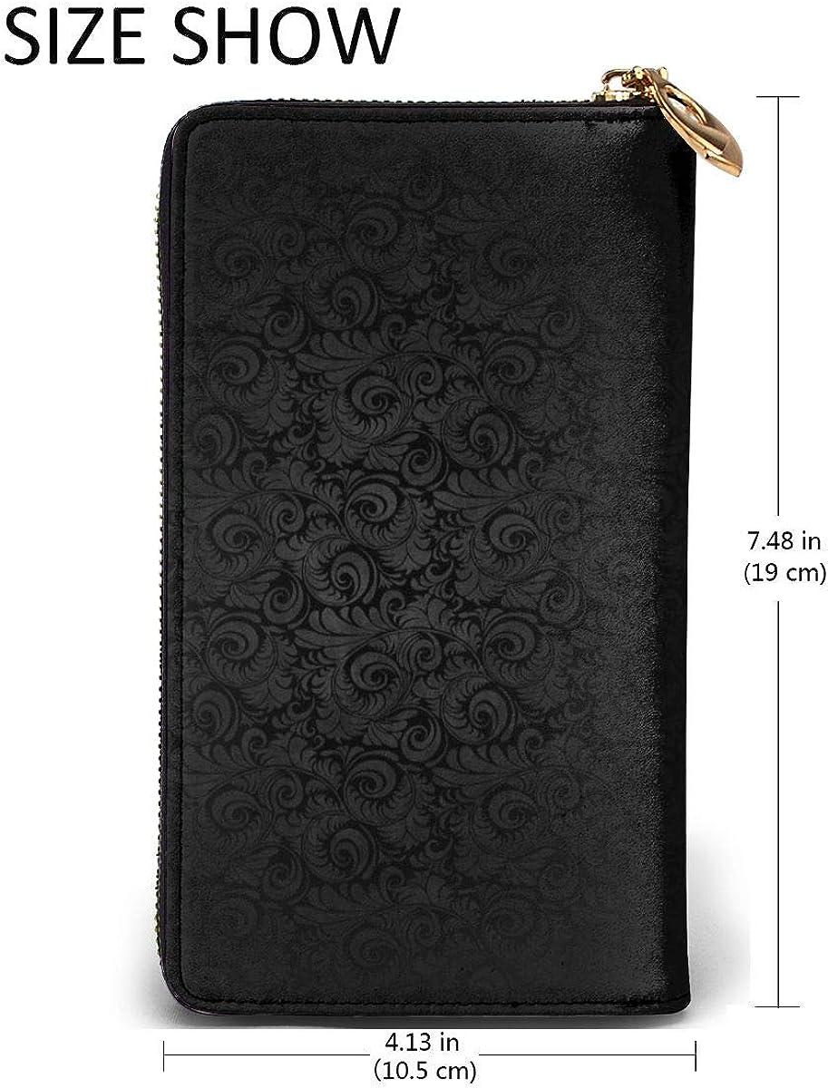 High Cold Dark Winds Wallets For Men Women Long Leather Checkbook Card Holder Purse Zipper Buckle Elegant Clutch Ladies Coin Purse