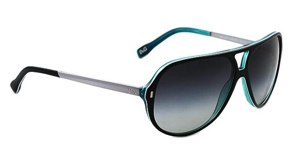 8d894534481c D g By Dolce   Gabbana Men s 3065 Black   Turquoise   White Frame Grey  Gradient Lens Plastic Sunglasses  Amazon.co.uk  Clothing
