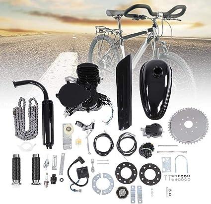 Kit de Motor de Bicicleta 80CC, Conjunto de Kit de Motor de Motor de Ciclo de 2 Tiempos, Kit de Bricolaje de Motor de Gasolina con Ahorro de Combustible con Herramientas: Amazon.es: