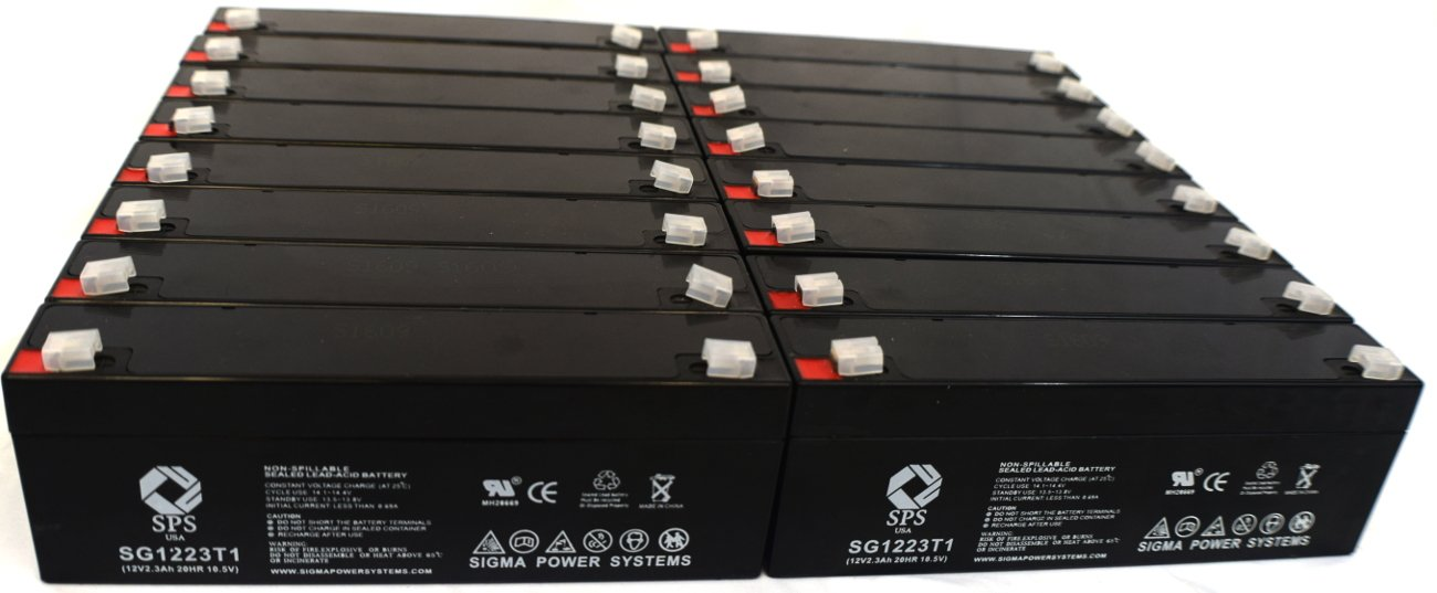 SPS Brand 12V 2.3 Ah Terminal T1 Replacement Battery for Tempest TR2.3-12A ( 12 PACK)