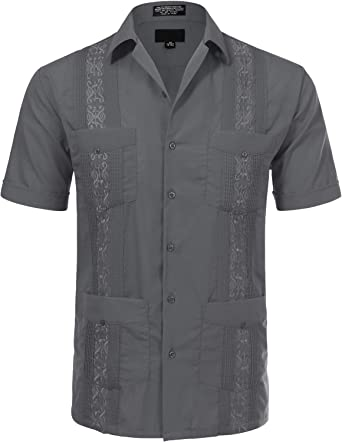 JD Apparel Mens Short Sleeve Cuban Guayabera Shirts: Amazon.es: Ropa y accesorios