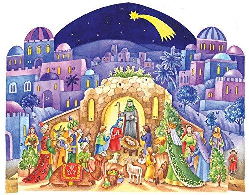 [해외]종교 강림 달력, 14 x 10.5-Inch, 풍경/Religious Advent Calendar, 14 x 10.5-Inch, Manger Landscape