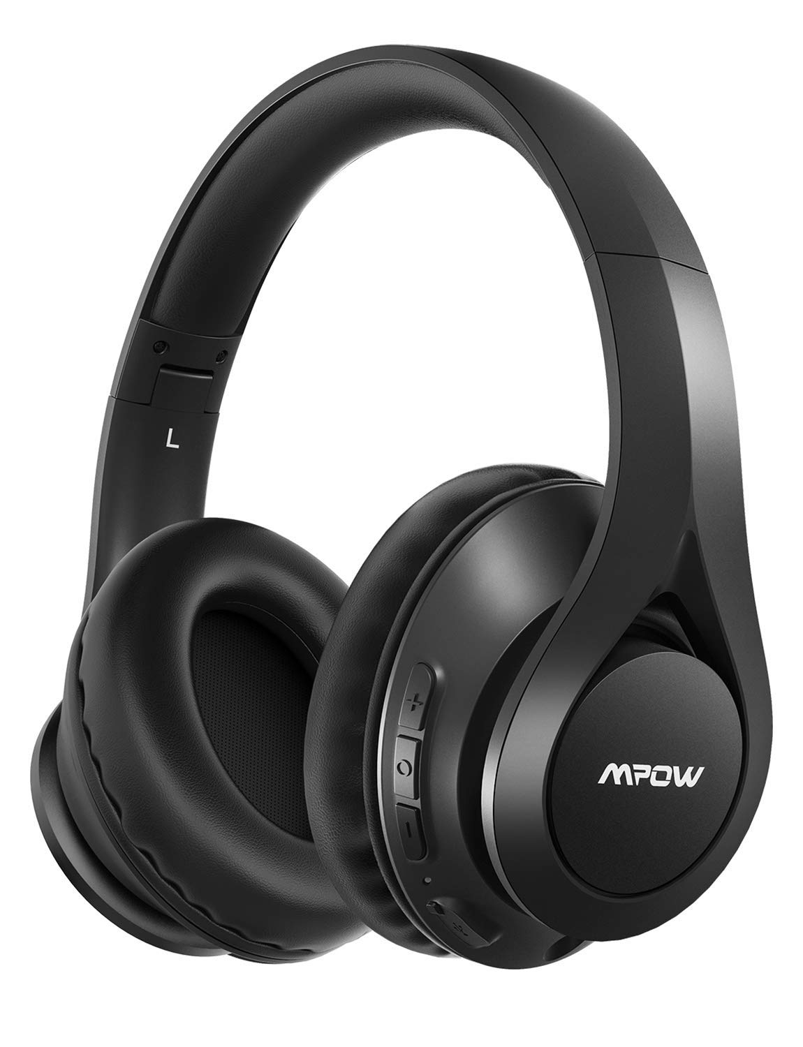Mpow 059 IPO Bluetooth Headphones, Bluetooth 5.0 Over-Ear Headphones with Mic and Hi-Fi Sound, 20~25H Playtime, Lightweight Foldable Protein Earpads for Travel/Work