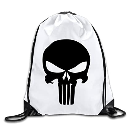 5075af6c4046 Amazon.com: OYOLOY The Punisher Logo Drawstring Backpack Sack Bag ...