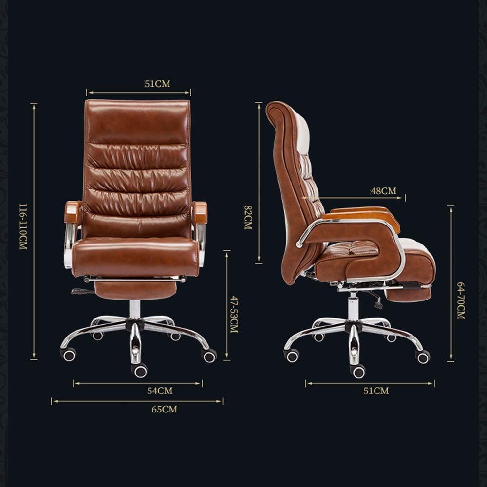 HPLL kontorsstol svängbar stol, PU datorstol, lyft massivt trä sömnad räcke chef stolar, ergonomiska säten, fritid kontorsstol, bekväm ryggstödstol, 3 färger svängbar stol b