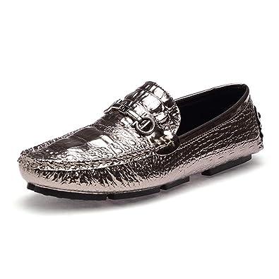 989c210a5fb0 メンズ ビジネス カジュアルシューズ タッセル ローファー スリッポン レザー クロコダイルパターン モカシン ラウンドトゥ フラット 革靴 ローカット
