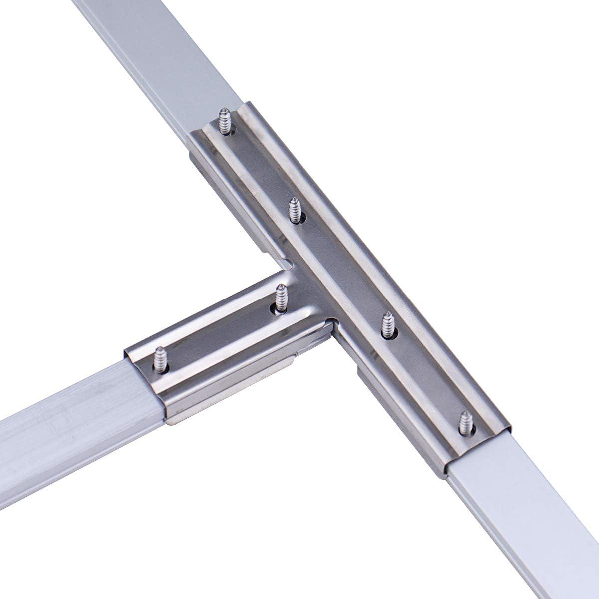 Muzata 10PCS Cross Connectors Adaptor and 6-Pack U1SW U Shape LED Aluminum Channel System