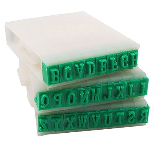 11 opinioni per TOOGOO(R) Timbro Set staccabile 26-lettere alfabeto inglese Plastica