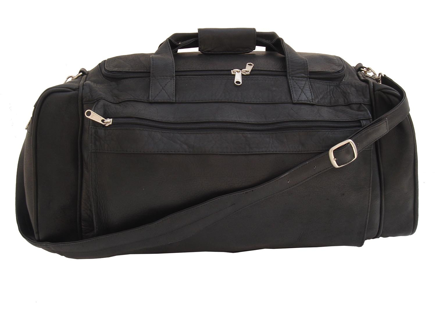 Piel Leather Large Duffel Bag in Black by Piel Leather